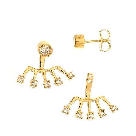 Brinco Ear cuff zircônia cristal