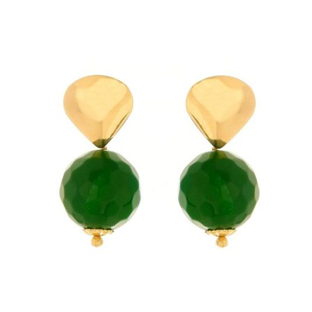Brinco de pedra natural jade