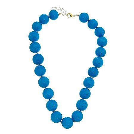 Colar de Jade Azul - Pedra Natural Brasileira