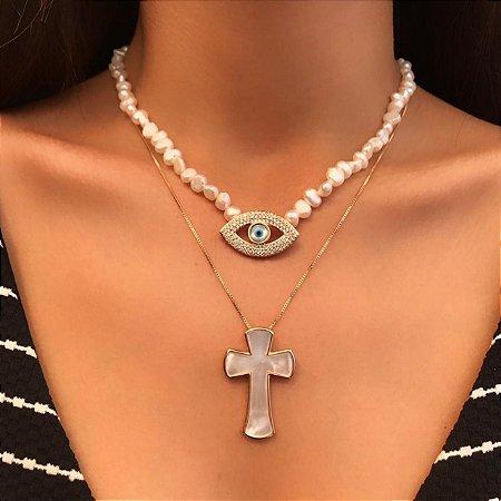Crucifixo em Madrepérola