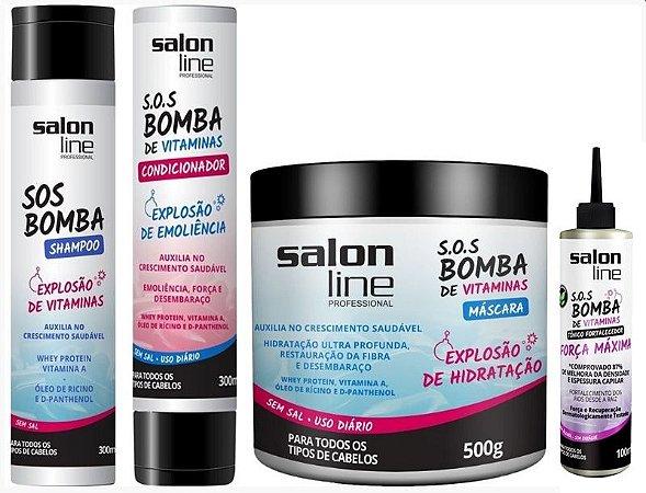 Combo Salon Line Tratamento Completo 4 Itens Força Máxima