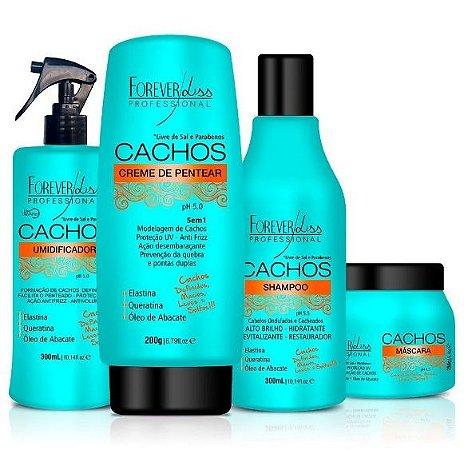 Forever Liss Cachos Perfeitos Kit c/ 4 Produtos