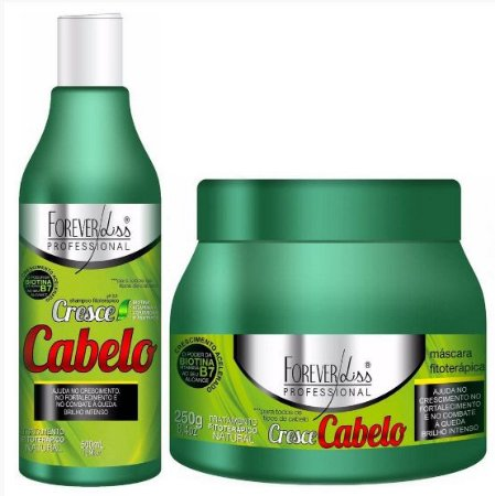 Forever Liss Cresce Cabelo Kit Tratamento Fitoterápico