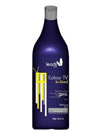 Máscara Matizadora Leads Care Colour TV be blond 950g