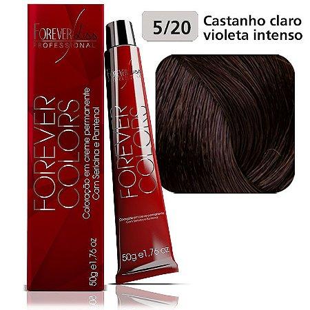 Coloração Forever Colors-Violeta Intenso 5-20 Castanho Claro