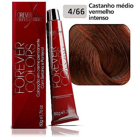 Coloração Forever - Vermelho Intenso 4-66 Castanho Médio