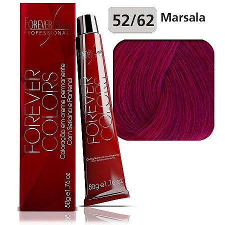 Coloração -Vermelho Especial 52-62 Castanho Violeta Marsala