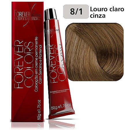 Coloração Forever Colors - Cinza 8-1 Louro Claro Cinza