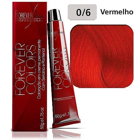 Coloração Forever Colors - Intensificador 0-6 Vermelho