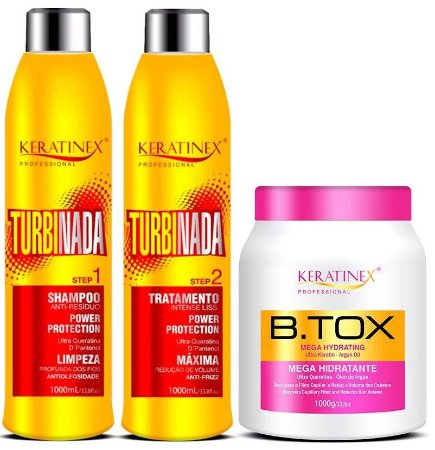 Kit Escova Progressiva Turbinada + Bt.x Keratinex 1Kg