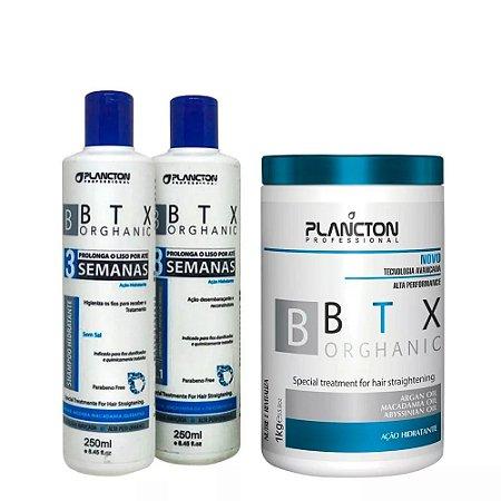 Kit BTX Orghanic Plancton Shampoo, Condicionador e btx 1kg