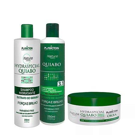 Kit Quiabo Plancton Shampoo, Condicionador e Máscara 250g