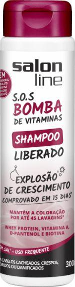 SHAMPOO SOS BOMBA LIBERADO – EXPLOSÃO DE CRESCIMENTO 300ML