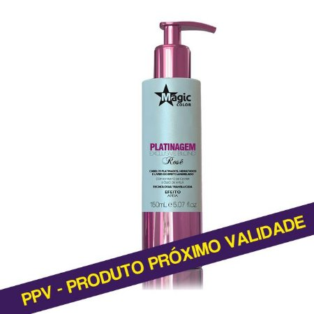 PPV Platinagem Exclusive Blond Magic Color 150ml # Rosê