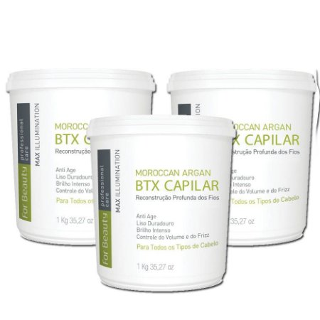 Kit Atacado - FOR BEAUTY Btx Redutor Volume CAPILAR 1KG