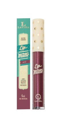 Lip Matte Latika Batom Líquido Vinho Metalico nº 41