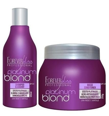 Forever Liss Platinum Blond - Kit Matizador Desamarelador