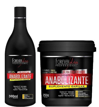 Shampoo Anabolizante 300ml + Mascara Capilar 250g