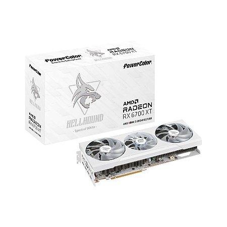PLACA DE VÍDEO POWERCOLOR HELLHOUND SPECTRAL WHITE RADEON RX 6700 XT 12GB GDDR6 192BIT GDDR6 - AXRX 6700XT 12GBD6-3DHLV2