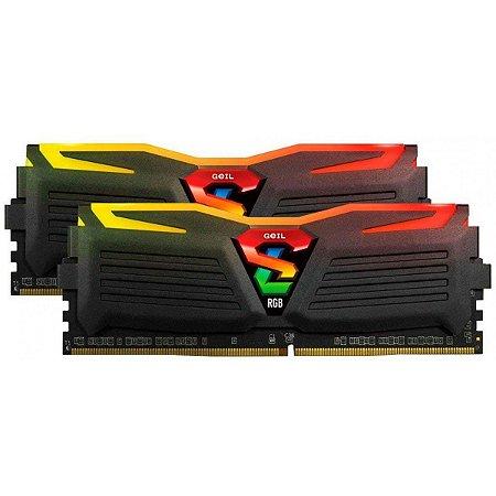 MEMÓRIA DDR4 GEIL SUPER LUCE RGB, 16GB (2X8GB) 3000MHZ - GALS416GB3000C16ADC