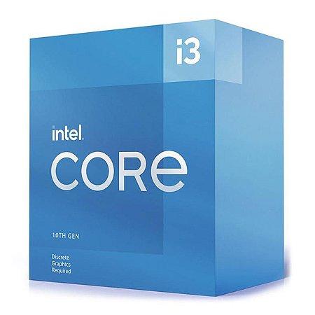 PROCESSADOR INTEL CORE I3-10105, 4-CORE, 8-THREADS, 3.7GHZ (4.4GHZ TURBO), CACHE 6MB, LGA1200 - BX8070110105