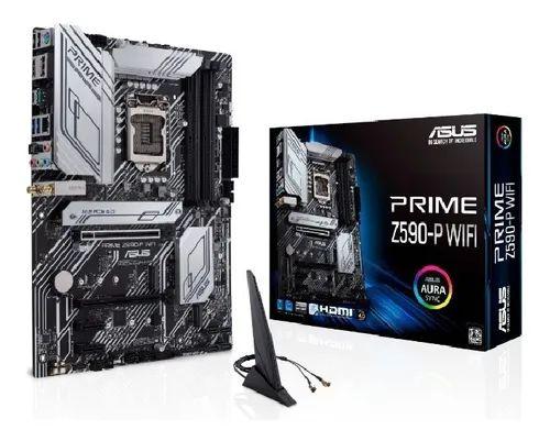 PLACA MÃE Z590-P WIFI PRIME LGA 1200 HDMI DDR4 ASUS - Z590-P-WIFI