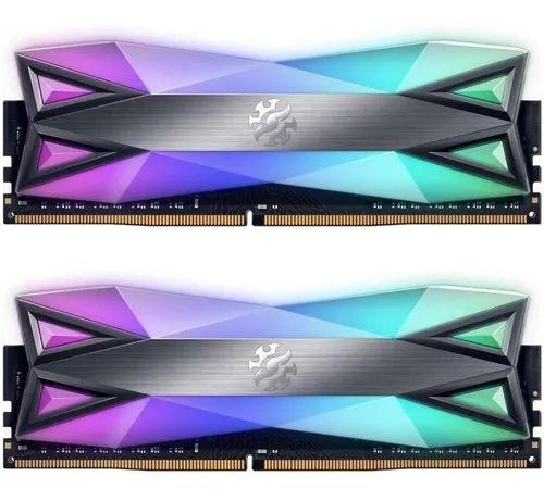 MEMÓRIA 16GB (2x8) 3200MHZ ADATA SPECTRIX D60G RGB - AX4U32008G16A-DT60