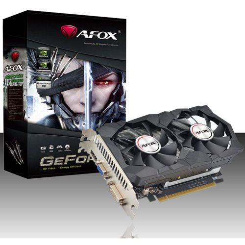 PLACA DE VÍDEO AFOX GEFORCE GT740 DUAL 4GB GDDR5 128 BITS HDMI DVI VGA - AF740-4096D5H2-V2