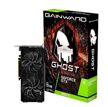 PLACA DE VÍDEO GAINWARD GTX1660TI 6GB GHOST GDDR6 - 192BITS NE6166T018J9-1160L