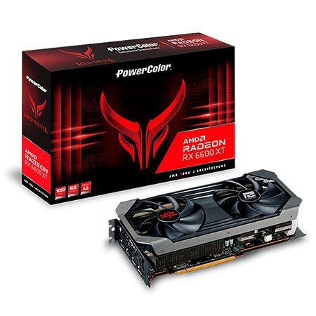 PLACA DE VÍDEO POWERCOLOR RADEON RX 6600 XT RED DEVIL, 8GB, GDDR6, FSR, RAY TRACING - AXRX 6600XT 8GBD6-3DHE / OC