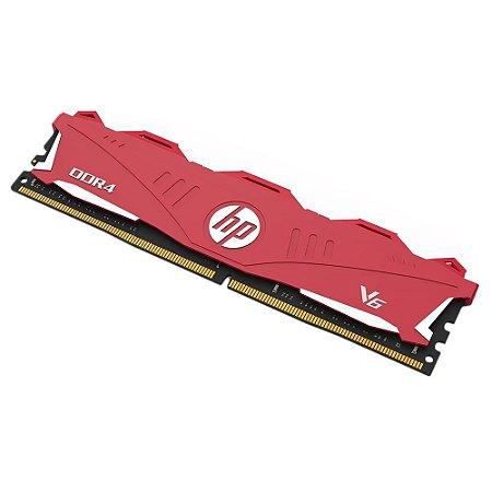 MEMÓRIA HP V6, 8GB, 2666MHZ, DDR4, CL18, VERMELHO - 7EH61AA#ABM