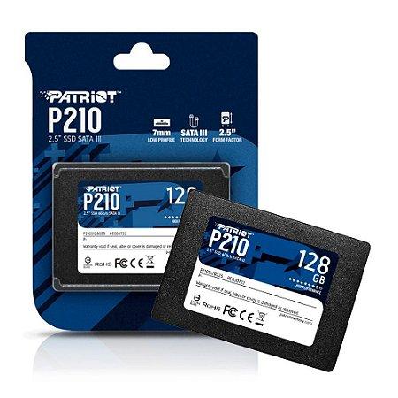 "SSD PATRIOT 128GB 2.5"" SATA 3 500MB/S LEIT - 400MB/S GRAV 120 - P210S128G25"