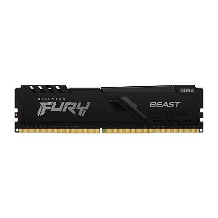 MEMÓRIA KINGSTON FURY BEAST, 16GB, 2666MHZ, DDR4, CL16, PRETO - KF426C16BB1/16