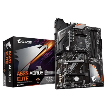 PLACA MÃE AMD GIGABYTE A520 AORUS ELITE, SOCKET AM4, DDR4 - A520-AORUS-ELITE