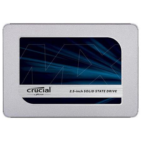 "SSD CRUCIAL MX500, 1TB, SATA, LEITURA 560MB/S, GRAVAÇÃO 510MB/S, 2.5"" - CT1000MX500SSD1"