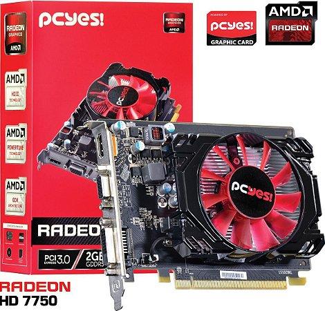 PLACA DE VÍDEO HD7750 2GB DDR5 128BITS PCYES