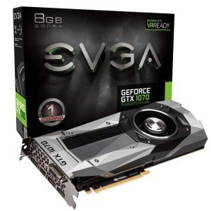 PLACA DE VÍDEO GTX 1070 8GB DDR5 256BITS EVGA FOUNDERS EDITION