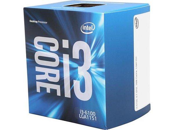 PROCESSADOR INTEL I3 6100 3.7GHZ 3MB SOCKET 1151