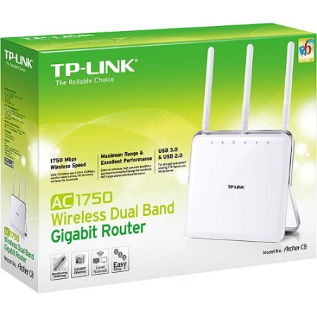ROTEADOR WIRELESS TP-LINK ARCHER C8 AC1750