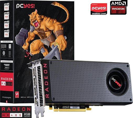 PLACA DE VÍDEO RX 480 8GB DDR5 256BITS PCYES