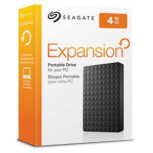 HD EXTERNO SEAGATE EXPANSION 4TB USB 3.0 - PORTÁTIL
