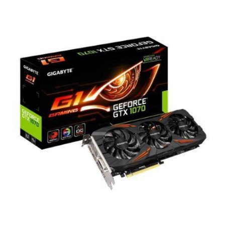 PLACA DE VÍDEO GTX 1070 G1 GAMING 8GB DDR5 256BITS GIGABYTE