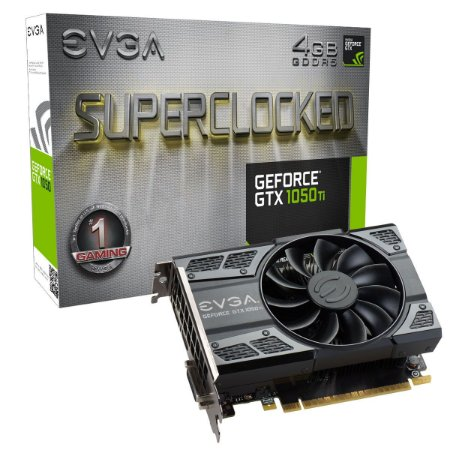 PLACA DE VÍDEO GTX 1050TI 4GB DDR5 128BITS EVGA SUPERCLOCKED