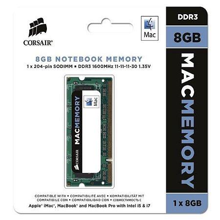 MEMÓRIA 8GB DDR3 1333MHZ CORSAIR MAC