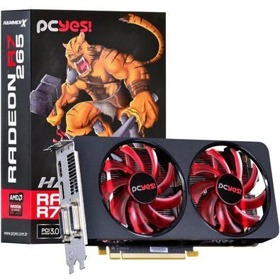 PLACA DE VÍDEO R7 265 2GB DDR5 256BITS PCYES