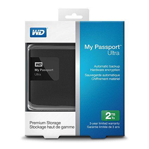 HD EXTERNO WD MY PASSPORT ULTRA 2TB USB 3.0 - PORTÁTIL