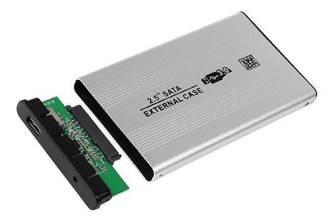 "CASE PARA HD 2,5"" SATA PRATA USB 3.0 FY"
