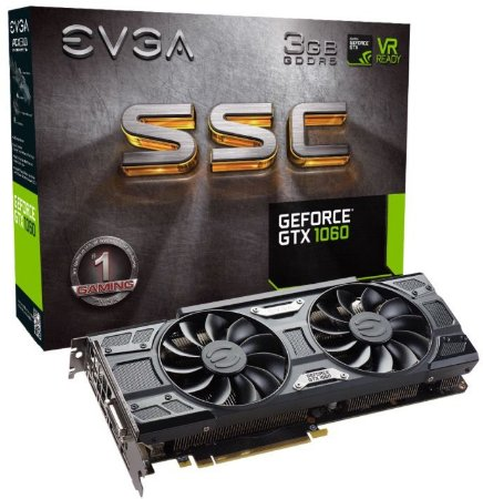 PLACA DE VÍDEO GTX 1060 3GB DDR5 192BITS EVGA SSC