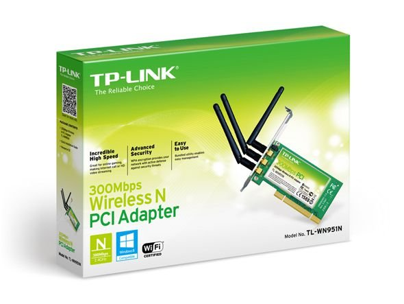 PLACA DE REDE TP-LINK PCI WIRELESS 300MBPS TL-WN951N