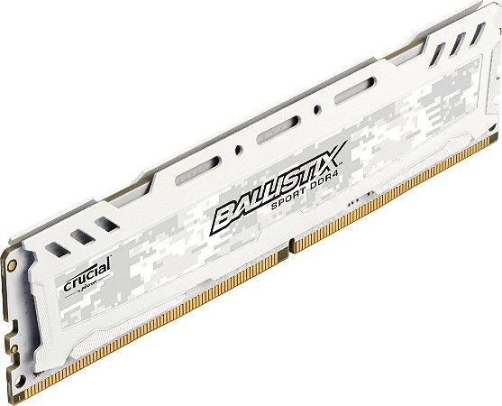 MEMÓRIA CRUCIAL BALLISTIX 8GB, 2666MHZ, DDR4, BRANCA, BLS8G4D26BFSCK